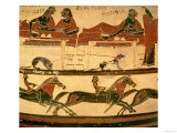 Early Corinthian Black-Figure Column-Krater Depicting Herakles Dining with Eurytos and His Sons Giclee Print