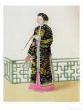 "A Lady of Distinction in Her Habit of Ceremony, Plate 60 from ""The Costume of China"" Giclee Print by Major George Henry Mason"