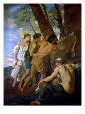 The Shepherds and Shepherdesses of Arcadia, circa 1628-9 Giclee Print by Nicolas Poussin