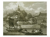 A View of the Gardens of the Imperial Palace, Peking, Detail Premium Giclee Print by William Alexander