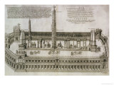 Plan of the Circus Maximus, Rome Giclee Print by Nicolas Beautrizet