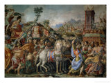 The Triumph of Marcus Furius Camillus, from the Sala Dell'Udienza, 1545 (Pre-Restoration) Giclee Print by Francesco Salviati
