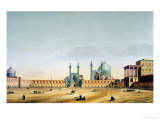 "The Royal Palace and the Mesdjid-I-Shah, Isfahan, Plate 6-7 from ""Modern Monuments of Persia"" Giclee Print by Pascal Xavier Coste"