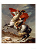 Napoleon Crossing the Alps Reproduction procédé giclée par Jacques-Louis David
