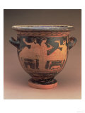 Attic Red-Figure Bell Krater Decorated with a Symposium Scene of Two Reclining Figures Giclee Print