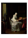 The Bird Organ or a Woman Varying Her Pleasures Giclee Print by Jean-Baptiste Simeon Chardin
