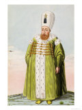 "Mustapha I Sultan 1617-18, 1622-23, from ""A Series of Portraits of the Emperors of Turkey,"" 1808 Giclee Print by John Young"
