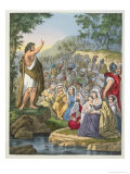John Preaching in the Wilderness, from a Bible Printed by Edward Gover, 1870s Giclee Print by Siegfried Detler Bendixen