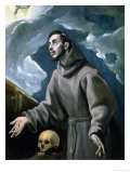 St. Francis Receiving the Stigmata Giclee Print by El Greco