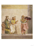 Strolling Masked Musicians, Scene from a Comedy Play by Dioskourides of Samos Giclée-Druck