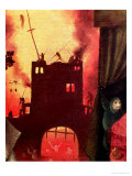 Tondal's Vision, Detail of the Burning Gateway Giclee Print by Hieronymus Bosch