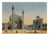 "View of the Courtyard of the Mesdjid-I-Shah, Isfahan, from ""Modern Monuments of Persia"" Premium Giclee Print by Pascal Xavier Coste"