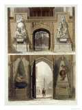 "The Entrance into the Choir and the West Entrance, Plate 20 from ""Westminster Abbey"" Giclee Print by Thomas Uwins"