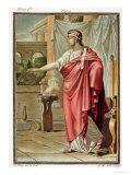 "Pyrrhus, Costume for ""Andromache"" by Jean Racine Giclee Print by Philippe Chery"