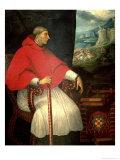 Portrait of Cardinal Francisco XImenez De Cisneros, 1604 Giclee Print by Caxesi Or Caxete Caxes