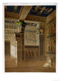 Interior View of the West Temple of the Memnonium, Thebes Giclee Print by  Le Pere