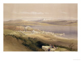 "City of Tiberias on the Sea of Galilee, April 22nd 1839, Plate 38 from Volume I of ""The Holy Land"" Premium Giclee Print by David Roberts"