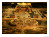 View of the Chateau, Gardens and Park of Versailles from the Avenue De Paris Giclee Print by Pierre Patel