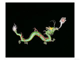 Dragon Chasing Flaming Pearl, Decorative Detail from the Base of a Chinese Export Silver Jardinier Giclee Print