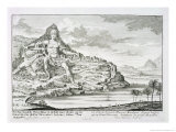 The Colossus of Mount Athos, Macedonia, by Dinocrates, the Architect of Alexander the Great Giclee Print by Johann Bernhard Fischer Von Erlach