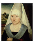Portrait of an Old Woman (Oil on Panel) Giclee Print by Hans Memling