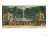 The Domes in the Garden at Versailles, Published by Laurie and Whittle, 1794 Giclee Print by Jacques Rigaud