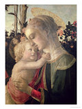Madonna and Child with St. John the Baptist, Detail of the Madonna and Child Reproduction procédé giclée par Sandro Botticelli