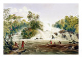 "Junction of the Kundanama with the Paramu, from ""Views in the Interior of Guiana"" Giclee Print by Charles Bentley"