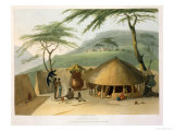 "A Boosh-Wannah Hut Plate 7 from ""African Scenery and Animals"" Giclee Print by Samuel Daniell"