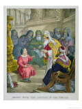 Christ with the Doctors in the Temple, from a Bible Printed by Edward Gover, 1870s Giclee Print by Siegfried Detler Bendixen