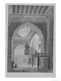 "Interior of the Mosque of Kaid-Bey, Plate 55 from ""Monuments and Buildings of Cairo"" Giclee Print by Pascal Xavier Coste"