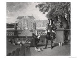John Rose the King's Gardener, Presenting Charles II with the First Pineapple Grown in England Giclee Print by Hendrik Danckerts