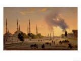The Racecourse at Constantinople Giclee Print by Ippolito Caffi