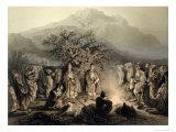 Caravan of Armenian Merchants, Transcaucasia Giclee Print by Grigori Grigorevich Gagarin