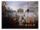 Scene of a Tournament in the Fourteenth Century, 1812 Giclee Print by Pierre Henri Revoil