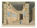 View of the Interior of the Temple at Ybsombul, Nubia, Discovered by Giovanni Belzoni Giclee Print by Giovanni Battista Belzoni