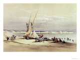 "Tsur, Ancient Tyre, April 27th 1839, Plate 69 from Volume II of ""The Holy Land"" Giclee Print by David Roberts"