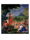 St. John the Baptist Preaching, Painted Before 1695 Giclee Print by Il Baciccio