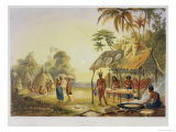 "Watu Ticaba, a Wapisiana Village, from ""Views in the Interior of Guiana"" Giclee Print by Charles Bentley"
