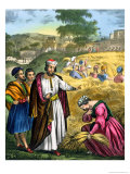Ruth in the Field of Boaz, from a Bible Printed by Edward Gover, 1870s Premium Giclee Print by Siegfried Detler Bendixen