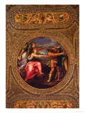 Allegory of Speed, Toil and Exercise, from the Ceiling of the Library Premium Giclee Print by Battista Franco
