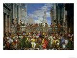 The Marriage Feast at Cana, circa 1562 Giclée-tryk af Paolo Veronese