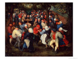 Village Dance Giclee Print by Jan Brueghel the Younger