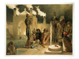 Ateseh-Gah, Indians Devoted to the Cult of Fire, Baku Giclee Print by Grigori Grigorevich Gagarin