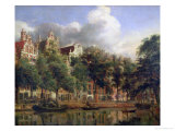 The Herengracht, Amsterdam Giclee Print by Jan Van Der Heyden