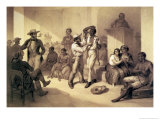 "The Sale of Uncle Tom at the Slave Market, Plate 9 from ""Uncle Tom"" Giclee Print by Adolphe Jean-baptiste Bayot"