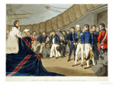 Sailors at Prayer on Board Lord Nelson's Ship After The Battle of The Nile Lmina gicle por John Augustus Atkinson