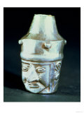 Vase in the Form of a Head with an Aquiline Nose, Chimu Inca Culture, 15th-16th Century (Silver) Lámina giclée