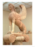 Crouching Sphinx on an Ionic Votive Column, Greek, from Naxos, circa 560 BC Giclee Print