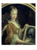 Portrait of Elizabeth Farnese Second Wife of Philip V of Spain Giclee Print by Luis Egidio Melendez